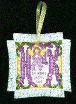 Hark Christmas Ornament Cross Stitch Pattern