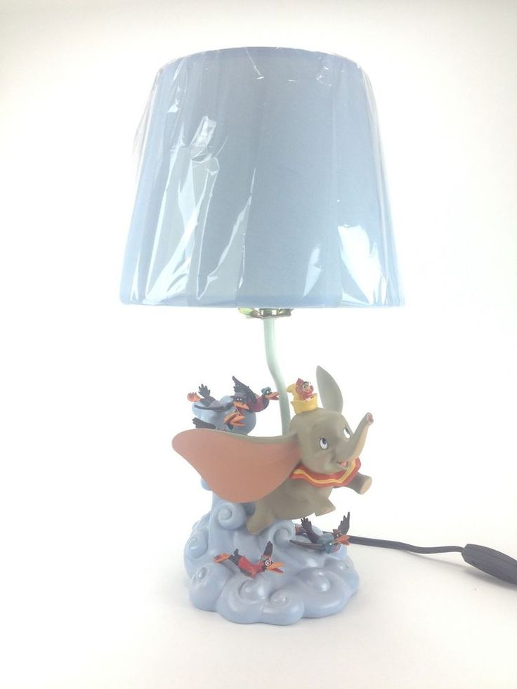 Disney Dumbo Flying Elephant W Crows Lamp Make Us An