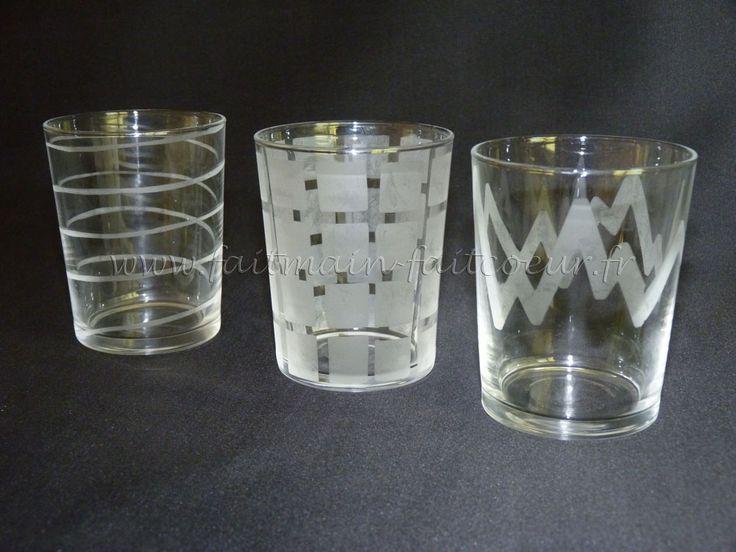Verres décorés (Etched glasses)