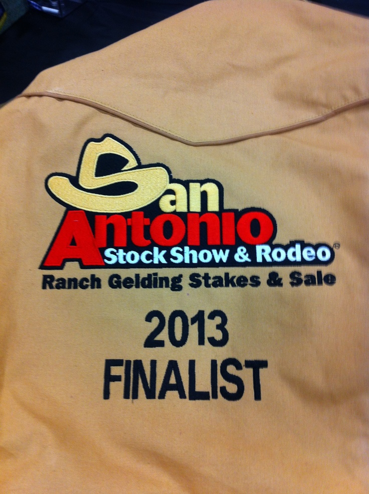 The San Antonio livestock show and rodeo jackets. A beautiful piece of embroidery