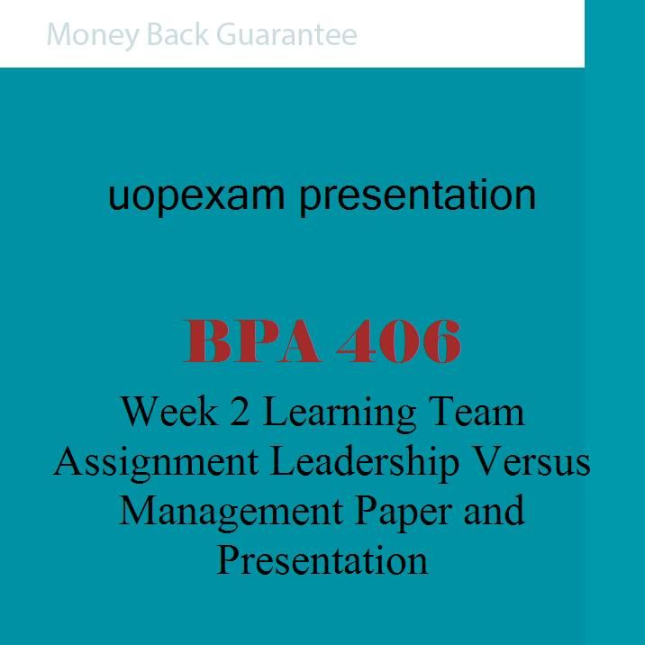 leadership and management assignment pdf