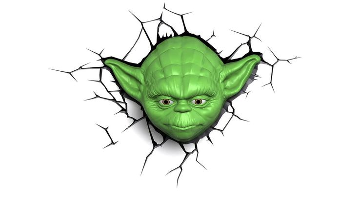 Star Wars - Yoda™ Face 3D Deco Light