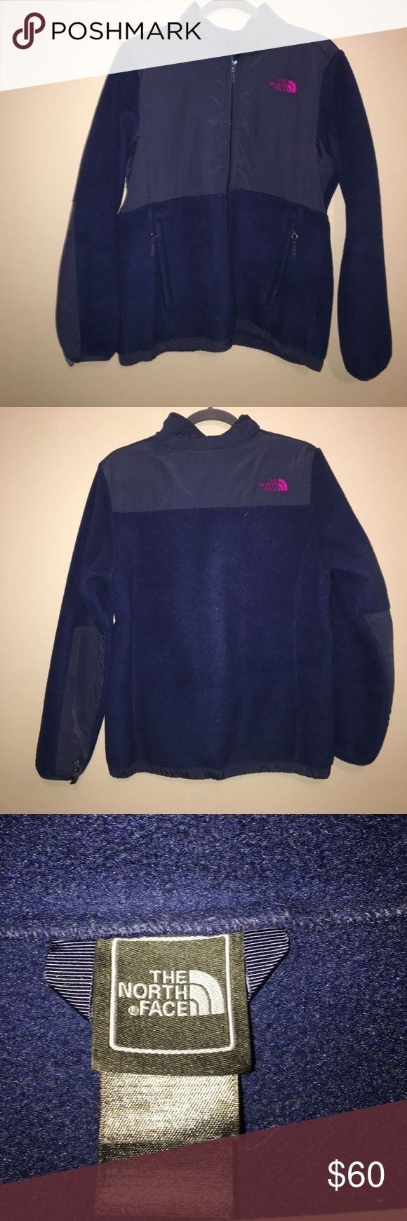 Girls XL (18) The North Face Fleece Zip up Jacket Navy blue North Face Fleece Zip up The North Face Jackets & Coats