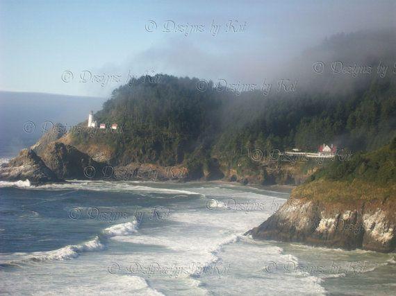 Oregon Coast Digital Download Image Heceta Head Lighthouse