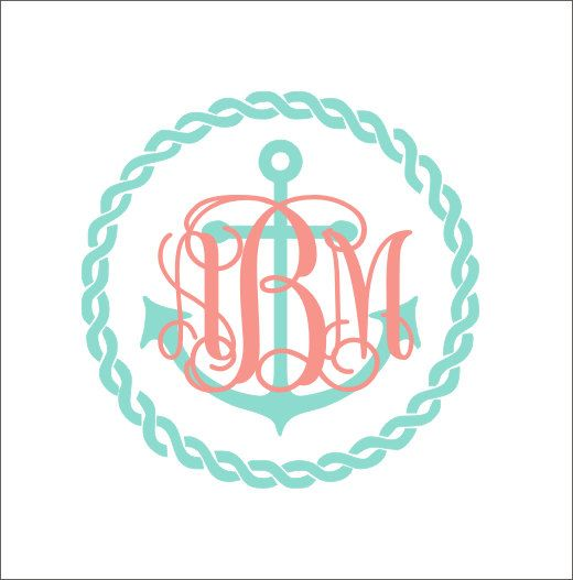 Best Monograms Images On Pinterest Anchor Monogram Monogram - Monogram car decal anchorbestmonograms ideas only on pinterest monogram letters