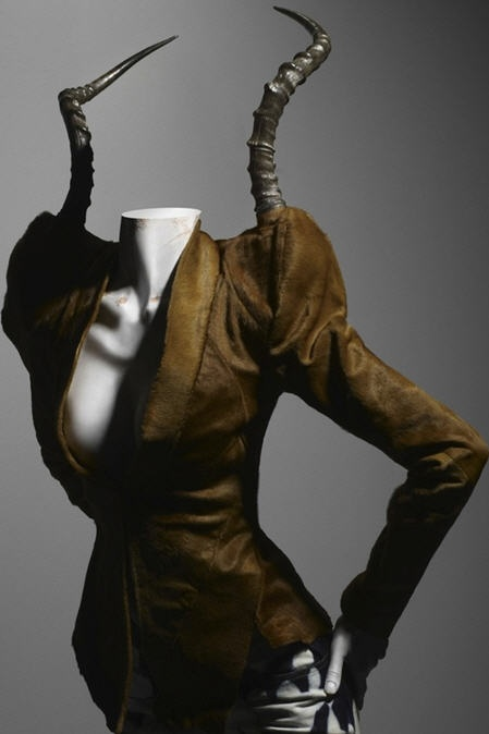 By Alexander McQueen - a jacket with horns