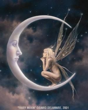 Fairy Moon by David Delamare (Love all of his work)