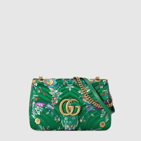 GG Marmont floral jacquard shoulder bag - Gucci Women's Handbags 443496K9TDT8846