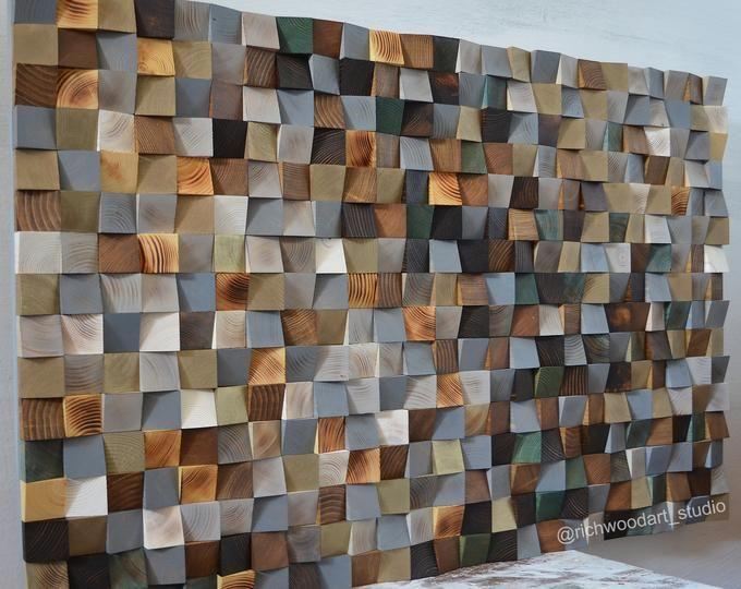 Wood Wall Art Made Of Old Reclaimed Barnwood Different Sizes Etsy Reclaimed Wood Art Wood Wall Art Reclaimed Wood Wall Art