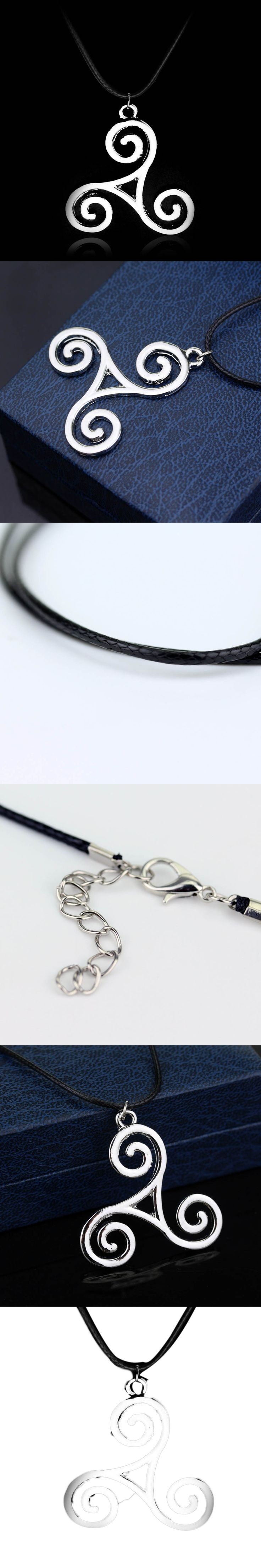 2017 New Style Teen Wolf necklace Triskele Triskelion Allison Argent Silver Color Pendant Jewelry for Men and Women Wholesale