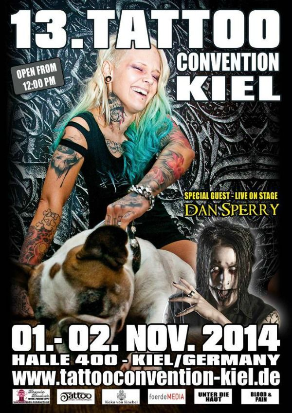 Tattoo Convention Kiel 1 - 2 November 2014 http://www.worldtattooevents.com/tattoo-convention-kiel/ — in Kiel, Germany.
