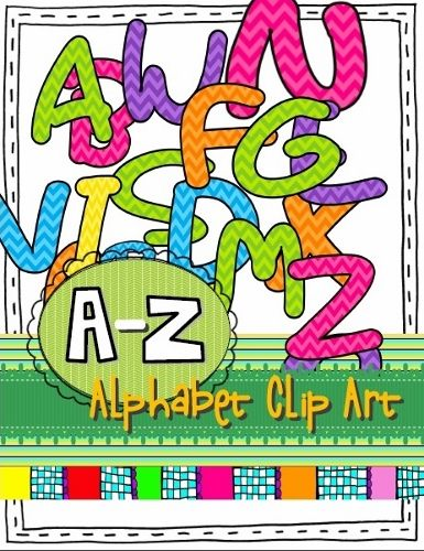 ALPHABET CLIP ART:  Use these colorful clipart images to make posters, worksheets, schedule cards, and labels for your classroom. (26 PNG images; Uppercase A-Z)
