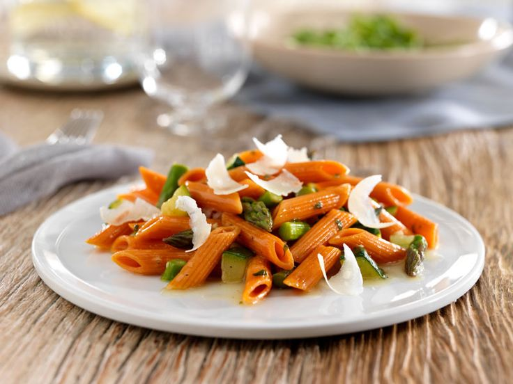 with Barilla® Veggie Penne with Zucchini, Asparagus & Parmigiano ...