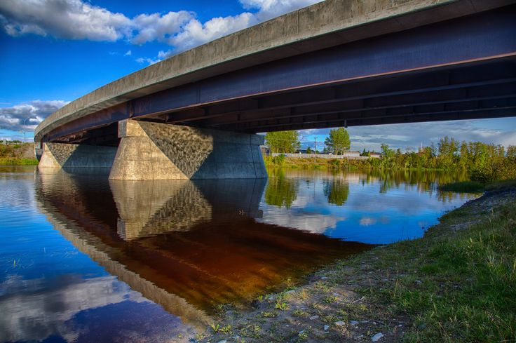 Lafleur Bridge over the Mattagami River in Timmins. HDR Efex Pro 2 Dark from 3 exposures.