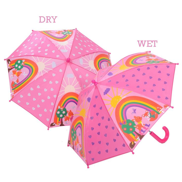 Kids can keep dry on rainy days will this Colour Changing Animal Umbrella. A fab gift for animal lovers.