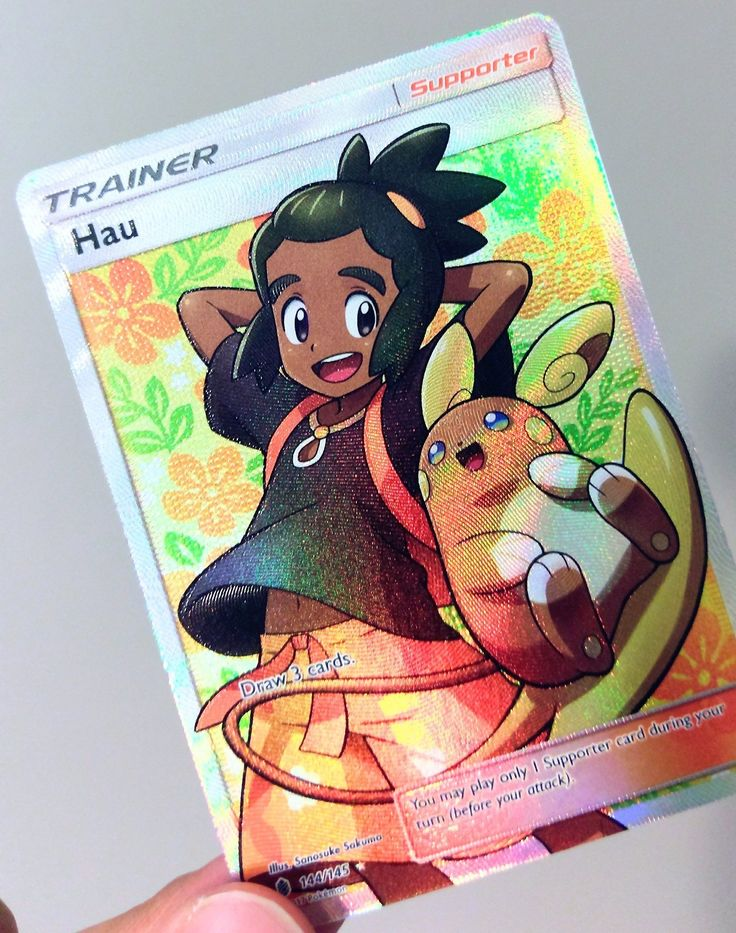 These Pokemon Full Art trainers have A+ designers 👌🏽 Pokémon - Alolan Raichu