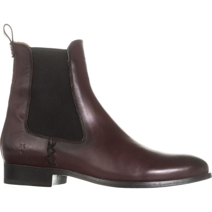 FRYE Melissa Flat Chelsea Boots, Wine    #frye #chelseaboots #flatboots #ankleboots #boots #booties #shoes #shopping #style #trend #love #fashion #womensfashion