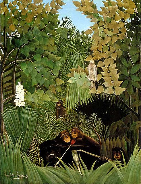 Henri Rousseau I love how he painted all this from imagination.