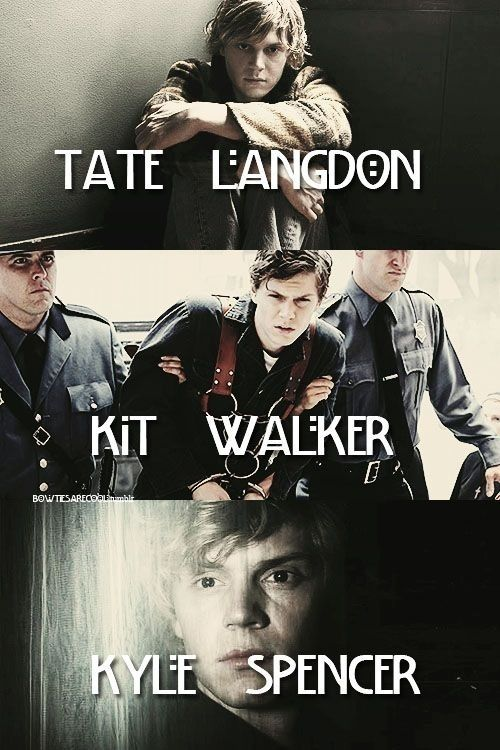 American Horror Story // Tate // Kit // Kyle // Murder House // Asylum // Coven---- My personal fav was Kit