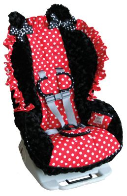 Shut the front door.  You can have a Minnie Mouse car seat cover made for your exact carseat.  When I win the lottery, Avery is getting this.