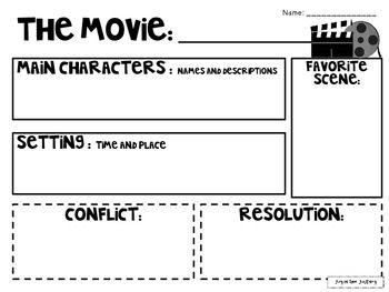 The Movie vs. The Book Graphic Organizers FREEBIE