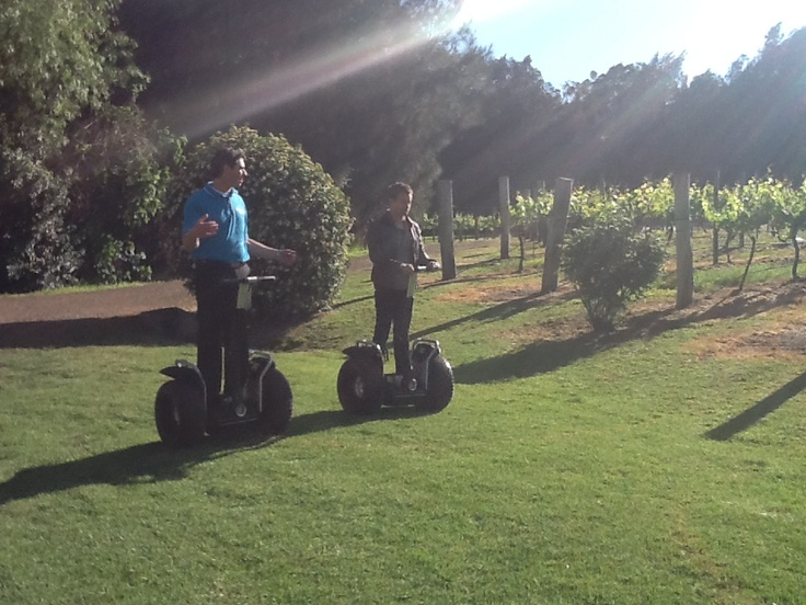 Grant Denyer showing off his segway skills!