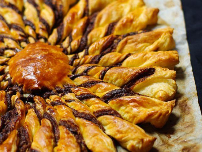 Recette Dessert : Tarte soleil noisettes et praliné par MarineisCooking