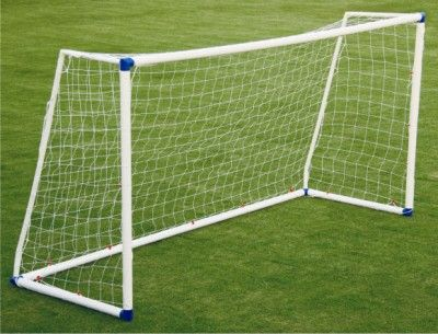 "Soccer Goal Post SEP - Deluxe: Made of 2.5"" heavy PVC tube with plastic elbows for all corners for fastest assembly. This goal is suitable for schools, clubs and training. This can be assembled very easily within few minutes. Includes net and anchors to hold the goal on ground."