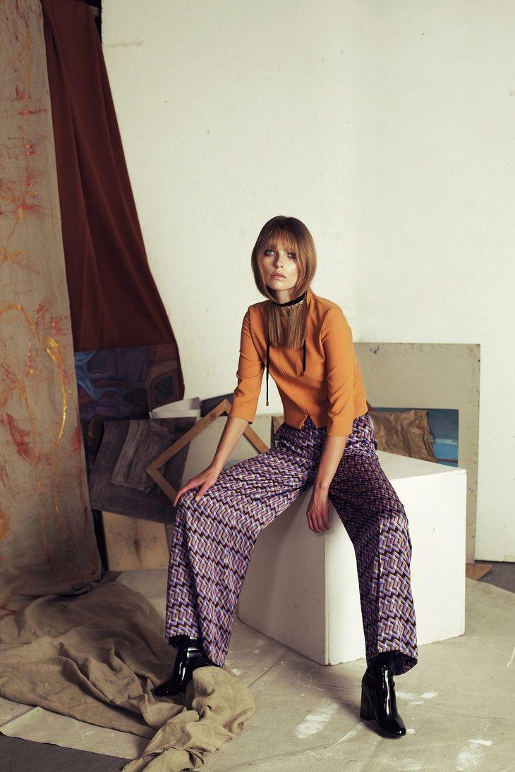 Papillon AW 2016/2017 Silk printed pants #papillonatelier #print #fashion #trends #polishbrand #silk