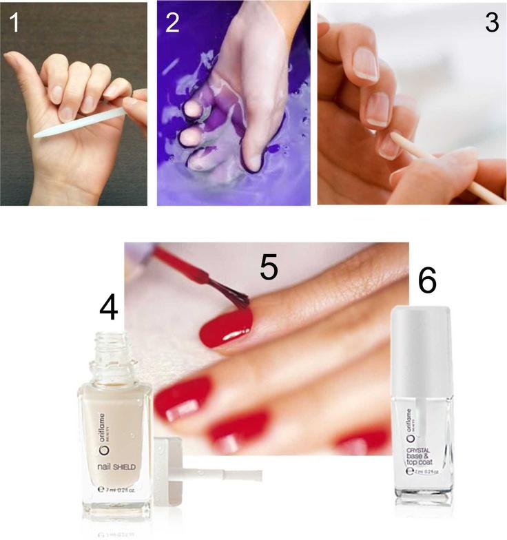 Klasična manikura. Kako je napraviti u 6 jednostavnih koraka? Pročitaj višena linku: http://oriflamebyiva.blogspot.com/2012/08/osnove-manikure-njega-noktiju.html