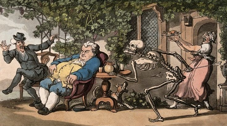 The dance of death: Tom Higgins by T. Rowlandson, 1816. The Wellcome Library, CC BY