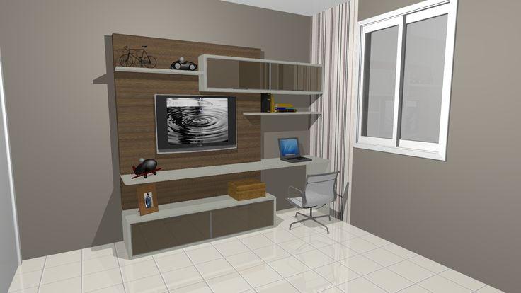 painel de tv com escrivaninha - Pesquisa Google | quartos casal