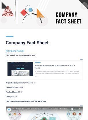 Fact Sheet Template Fact Sheet Template One Pager Template, Reading - fact sheet templates