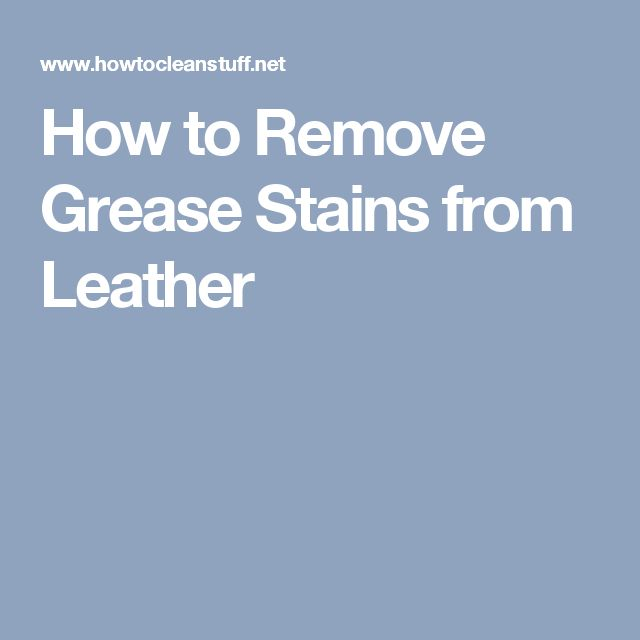 What S The Best Way To Remove Grease Stains From Clothing