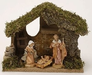 $82.50-$95.00 Fontanini by Roman Classic Holy Family starter Nativity Set 3-Piece 5-Inch Each - Fontanini 5-inch 3 -piece Classic Holy Family with Italian Stable Nativity Set (Includes Free Item 53510 Children with Palms Ira and Asher) http://www.amazon.com/dp/B001F7X8II/?tag=pin2wine-20