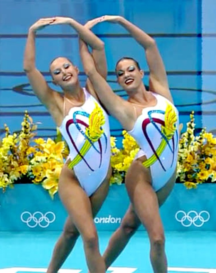 American duet at the Olympics. The theme of their routine was the Olympics.