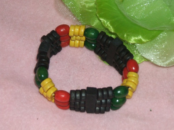 RBG Red Black Green Rasta Colors Wood Stretch by MonetCreations, $7.00
