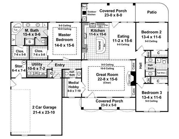 House Floor Plans 3 Bedroom 2 Bath