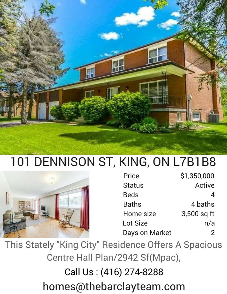 """This Stately """"King City"""" Residence Offers A Spacious Centre Hall Plan/2942 Sf(Mpac),Mature Treed South Facing Lot/Approx 1/2 Acre,Large Covered Front Veranda,Rear Wood Deck W/Cabana,3 Rear Walk-Outs,Gar Entry,Grand Foyer,Generous Sized Rms,Circular Staircase,Marble Gas Fireplace,Chef Size Kitchen,Main Flr 3Pc,Mudroom Can Be Converted To Laundry,Immense Lower Level Finished W/5th Bdrm,Large Wine Cellar,Laundry,2Pc!Near:Go Station,Hwy 400, Schools,Parks,Shops! Call @The Barclay Team at (416)…"""