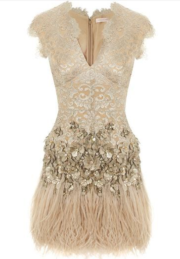 Lacquer Lace Feathered Dress with Belt  $6,625.00