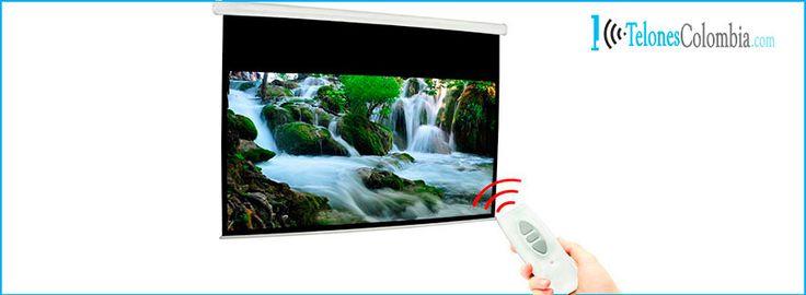 Telón para proyector electrico de 274x208 cms