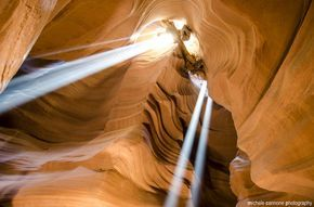 Antelope Canyon is a slot canyon sitting in northern Arizona, home to some of the most photographed sandstone curves in the state.
