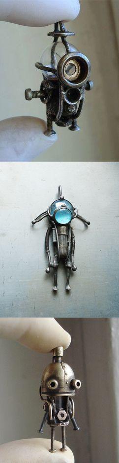 Steampunk assemblage pendants by BioStantsiya (Minions & Mechtorians!)