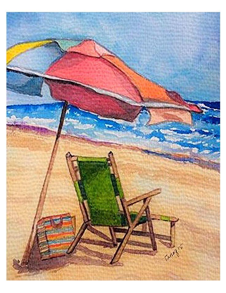Beach Chair Umbrella Beach chair umbrella, Beach