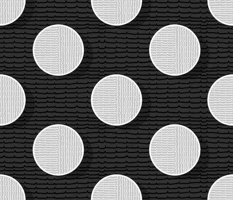 pois in negative fabric by chicca_besso on Spoonflower - custom fabric