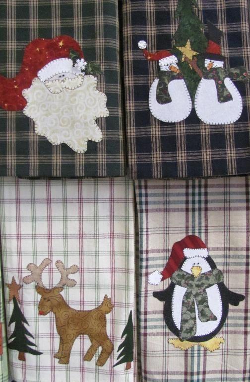 Holiday Tea Towels --so cute