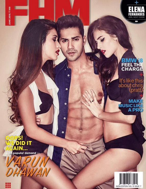 Varun Dhawan on FHM June 2015 Edition. #Bollywood #Fashion #Style #Handsome #Sexy #Hot