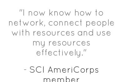 comments from an SCI #AmeriCorps memberQuote