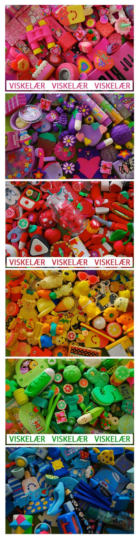 Viskelærsamling på 80-tallet :) Eraser Collection.