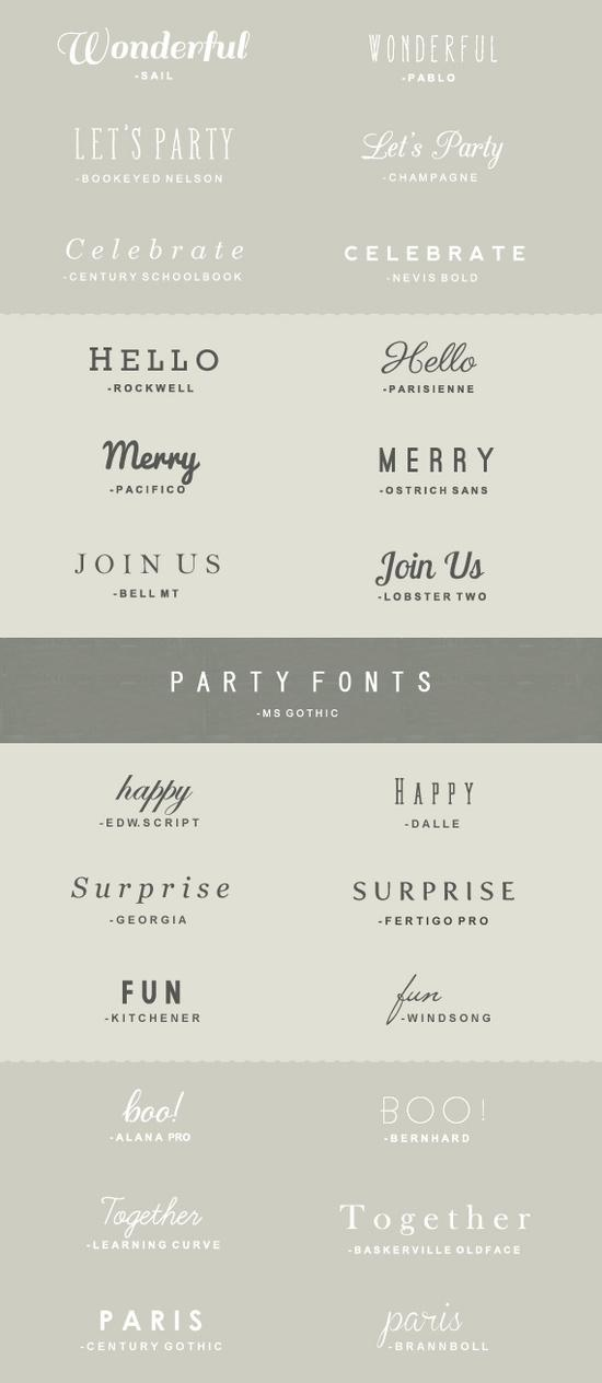25 #free party #fonts. I can never get enough of free fonts! I love #typography.